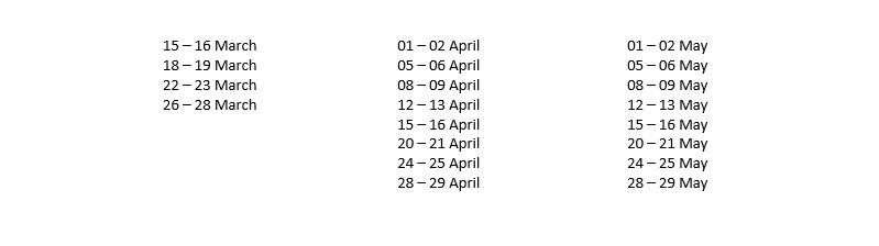 Marsyangdi trip dates